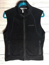 Women's Columbia Black Fleece Vest Medium