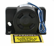 Universal Backup Warning Alarm 112dB Beeper w Wires - Construction Heavy Truck
