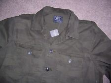 NWT Abercrombie & Fitch Men's Military Shirt Jacket Olive green Camo XL new