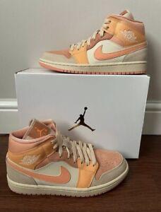 Nike Air Jordan 1 Mid Apricot Orange UK 5 🟠Trusted Seller🟠