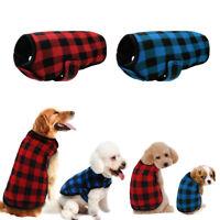 Dog Clothing Plaid Grid Winter Dog Clothes Coat Warm Pet Jacket Apparel Boy Gril