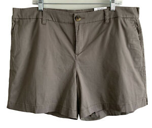 """Style & Co Women Chino Shorts Plus Size 18 Brown Mid Rise 5.5"""" Inseam Casual NEW"""