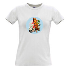 Scooter Girl T-shirt 100% cotton scooters mods vespa lambretta vintage pin-up