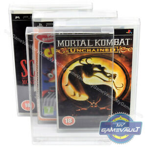 PSP Game BOX PROTECTORS for PlayStation PREMIUM STRONG 0.5m PLASTIC DISPLAY CASE