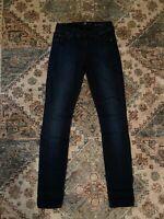 7 For All Mankind The Skinny Jeans Dark Wash Denim Women's Size 24 EUC
