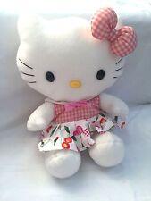 Hello Kitty Sanrio Plush Plaid Checks Cherry Dress, Lost Lovey