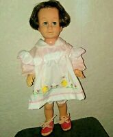 """Vintage 1960 Patent Pending Soft Face Brunette Chatty Cathy Doll MATTEL  19""""Tall"""