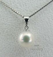HS Rare 9.6mm Collection Quality Japanese Akoya Pearl Pendant 18ct White Gold
