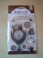 NEW - BO BUNNY - CLEAR STAMPS - STEAMPUNK  - 7 STAMPS