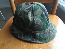 Men's Vintage Camouflage HUNTING CAP Lg Ear Warmers Bucket HAT