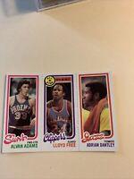 189 Alvan Adams 14 Lloyd Free 240 Adrian Dantley ,,1980 81 Topps Cb5
