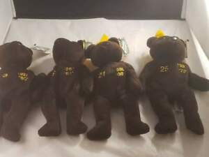 Ty Beanie Babies Salvino's Home Run Kings Bamm Beano's Set of 4 Vintage