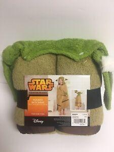 "Disney ""Star Wars Yoda""  Hooded Child's Bath/Beach Wrap - NEW with Original Tags"