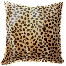Ff06a Faux Fur Brown Leopard Skin Print Cushion Cover/Pillow Case*Custom Size