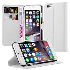 Pour iphone 6 4.7 puces  - Etui Housse Portefeuille Cuir Support video Blanc