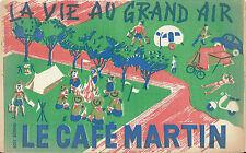 Buvard Café Martin Scout scoutisme feu de camp tente camping