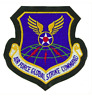 Vanguard AIR FORCE PATCH: GLOBAL STRIKE COMMAND - LEATHER WITH HOOK CLOSURE