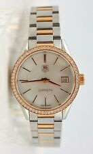 TAG Heuer Carrera Ladies Diamond Rose Gold  Mother of Pearl WAR1353