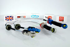 FORD TRANSIT 2.0 GEAR CHANGE MK6 CABLE LINKAGE PAIR CABLES GREY GRAY BLUE SET *