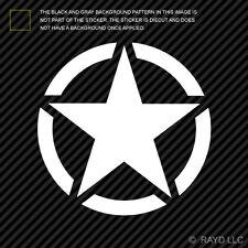 "(2x) 5"" Willys Army Star Sticker Die Cut Decal Self Adhesive Vinyl"