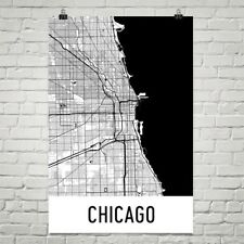 Chicago IL Street Map Poster