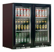 BRAND NEW! Heller Black 210L Double Door Bar Fridge - HUB210
