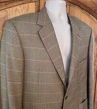 """BRIONI """"Millennio"""" Glen Plaid Cashmere & Silk 3-Button Blazer Single Vent 44R"""