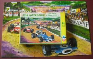 Vintage Arrow Games Jigsaw Puzzle No 5439 The Adventure Motor Racing Scene 1970s