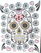 CARDS - 1, DAY OF THE DEAD. EMPTY, COLORED BY MUSCULAR DYSTROPY GIRL
