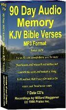 90 Day Audio Memory KJV Bible Verses MP3 on CD