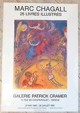 Marc Chagall affiche quadri cirque Galerie Patrick Cramer Genève Suisse 1982