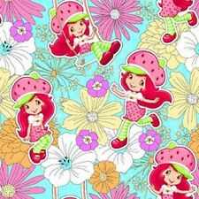 Fat Quarter Strawberry Shortcake Floral Flowers Cotton Quilting Fabric - SPX