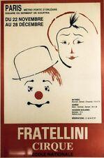 """""""FRATELLINI CIRQUE (ECOLE NATIONALE)"""" Affiche originale entoilée  42x60cm"""
