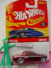 2007 Hot Wheels S3 Classics #14 SHOE BOX☆Spectraflame RED; whiteline 5☆Series 3