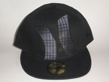 Hurley TOWNSER New Era Hat Black 7 3/8 ($35) Cap Skate Ski Surf Fitted Flatbill