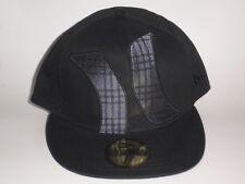 Hurley TOWNSER New Era Hat Black 7 1/8 ($35) Cap Skate Ski Surf Fitted Flatbill