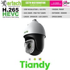 Tiandy PTZ H.265 Caméra IP Laser Auto Tracking 33x Smart Haut-parleur PTZ
