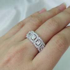 Newshe Wedding Band Eternity Ring For Women 925 Sterling Silver White Cz Size 6