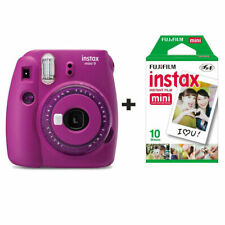 Fujifilm Instax Mini 9 Instant Camera with 10 Shots - Clear Purple