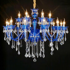 Blue Crystal Chandelier Light for Island Living Room Bedroom Shop Light