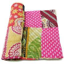 patchwork Kantha Quilt Handmade Cotton Bedspread Counterpane Bedding Throw PB30