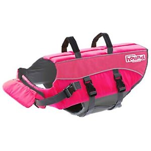 Outward Hound Ripstop Extra Large Dog Life Jacket Life Preserver for Dogs, Pink,