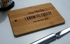 Personalised Bamboo Cheeseboard or Chopping Board, Laser Engraved  Gift
