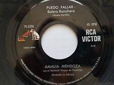 AMALIA MENDOZA - Puedo Fallar / Falsas Ilusiones 1960's BOLERO RANCHERA Mariachi