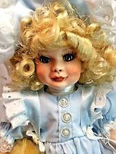 "Paradise Galleries Vintage 1991 LE Elizabeth + Baby Bear 13"" Porcelain Doll MIB"