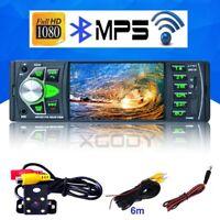 "Bluetooth 4.1"" Car MP5 Player Stereo Audio FM MP3 Video Remote +Reversing Camera"
