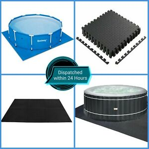 SWIMMING POOL FLOOR MATS / GROUND PROTECTOR ADDS EXTRA CUSHIONING QUICK DELIVERY