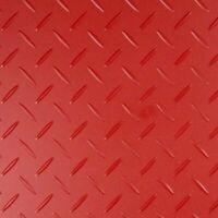 1m x 1.5m Red Car Sound Deadening Floor Mat Diamond Boot Van Garage Gym Ribbed