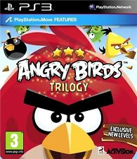 PS3 Angry Birds Trilogy Kinder Spiel TOP ZUSTAND REGION FREE