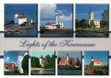 Keweenaw Michigan Lights Gull Rock Eagle Harbor Sand Hill Lighthouse Postcard